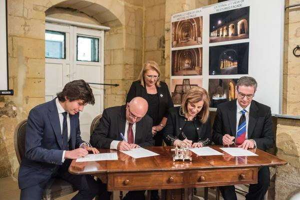 signed a Memorandum of Understanding for the reinstatement of a rainwater harvesting reservoir at San Anton Palace, in the framework of Alter Aqua Program.